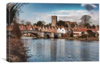 High Tide Aylesford, Canvas Print