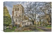 St John The Baptist Meopham, Canvas Print