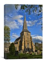 St Peter and St Paul, Wadhurst, Canvas Print