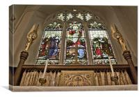 East Window Eastchurch, Canvas Print