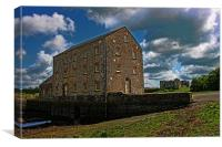 Carew Tidal Mill and Castle, Canvas Print