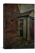 Backstreet Barber, Canvas Print