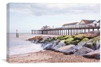 Surf at Southwold, Canvas Print