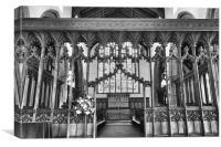 St Michaels Screen Beccles, Canvas Print