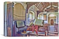 Book and Organ, Canvas Print