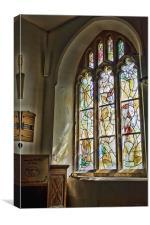 All Saints Tudeley Pulpit Window, Canvas Print
