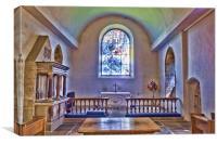 All Saints Tudeley - Chancel, Canvas Print