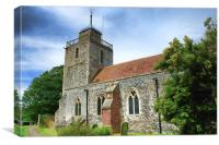 St Mary The Blessed Virgin Woodnesborough, Canvas Print