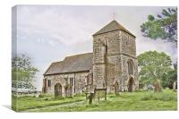 St Mary The Virgin Kennardington, Canvas Print