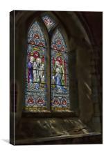 Window at Doddington Church, Canvas Print