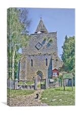 Church Cat, Canvas Print