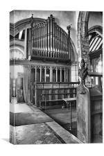 St Nicholas Organ, Canvas Print