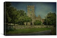 St Nicholas Boughton Malherbe, Canvas Print
