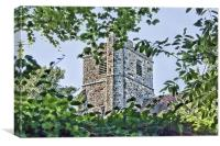 All Saints Ulcombe, Canvas Print