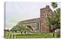 St Matthew Warehorne, Canvas Print