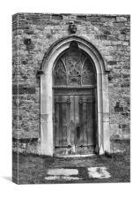 West Door St Leonards Hythe, Canvas Print