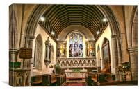 St Mary and All Saints Boxley, Canvas Print