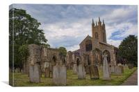 St Mary Bungay, Canvas Print