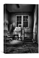 Abdandoned Bathing Chair, Canvas Print