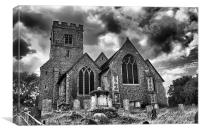 St Michael and All Angels Throwley, Canvas Print