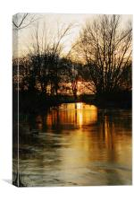Sunset On The Stour, Canvas Print
