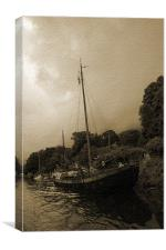 Old Boats On The Medway, Canvas Print