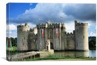 Bodiam Castle, Canvas Print