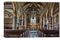 St Mary Chiddingstone, Canvas Print