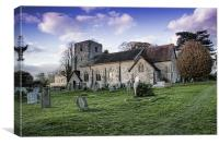 St Michael And All Angels Chart Sutton, Canvas Print