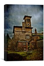 Clock Tower Leybourne Grange, Canvas Print