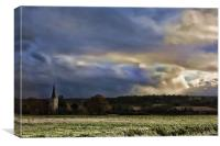 Barming Fields, Canvas Print