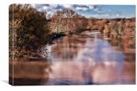 Medway At Barming, Canvas Print
