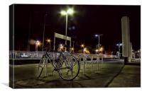 Pedal Cycle On A Platform, Canvas Print