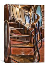 Pulpit Stairs Egerton Church, Canvas Print