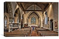 St James Church Egerton, Canvas Print