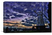 Woodchurch Windmill At Sunset, Canvas Print