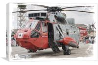 Ace Of Clubs Sea King Mk5, Canvas Print