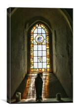 Statue In The Window, Canvas Print