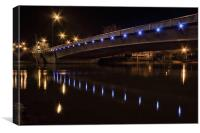 Maidstone New Bridge In Blue, Canvas Print