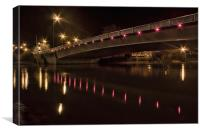Maidstone New Bridge In Red, Canvas Print