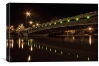 Maidstone New Bridge In Green, Canvas Print
