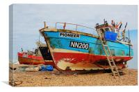 Boats Of Hastings, Canvas Print