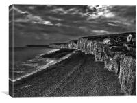 Birling Gap And The Seven Sisters, Canvas Print