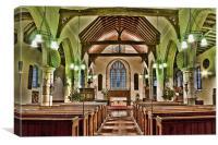 St Dunstan Snargate, Canvas Print