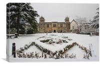Archbishops Palace In The Snow, Canvas Print