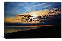 Dawn Breaks Herne Bay, Canvas Print