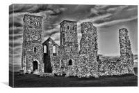 Ruins At Reculver, Canvas Print