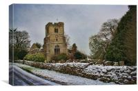 St Peter and St Paul East Sutton, Canvas Print