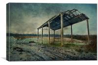 Frozen Barn, Canvas Print