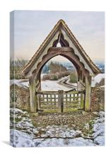 The View Beyond The Lychgate, Canvas Print
